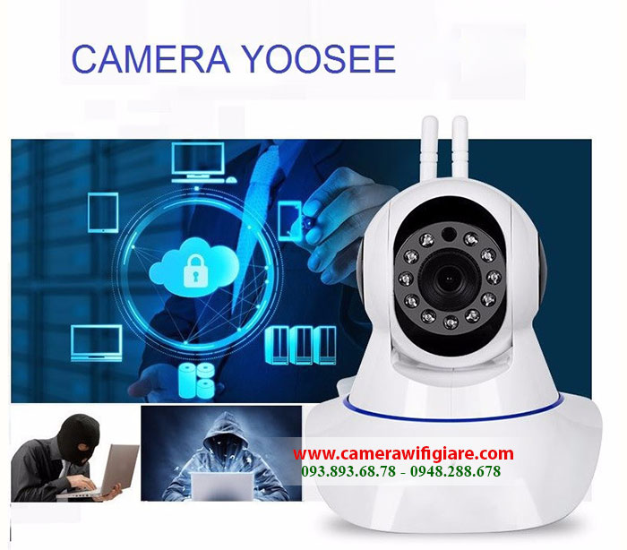 Camera Yoosee chính hãng có hồng ngoại, đàm thoại, xoay 360 độ