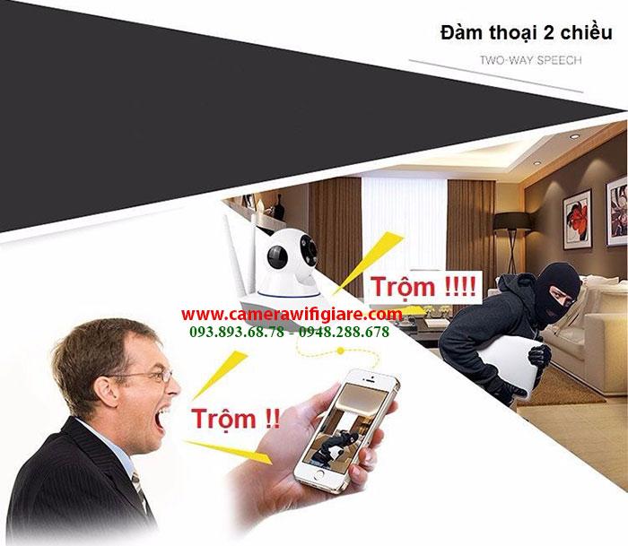 Camera Yoosee 2 râu có Hồng ngoại, Xoay 360 độ, Đàm thoại