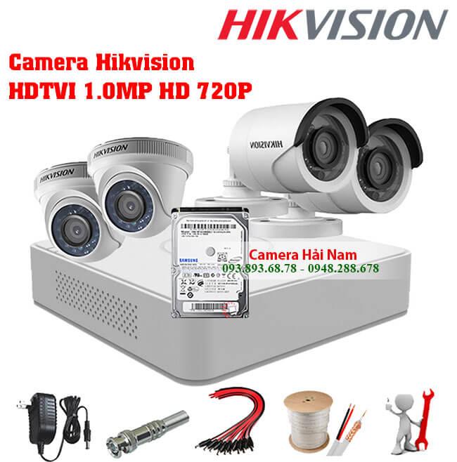 Camera an ninh có dây trọn bộ Hikvision 1.0MP HD 720P