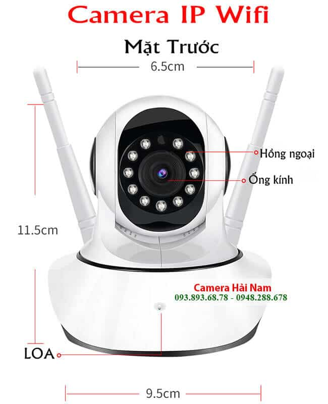 Camera IP Wifi không dây xoay 360 độ, ghi hình siêu nét, thông minh