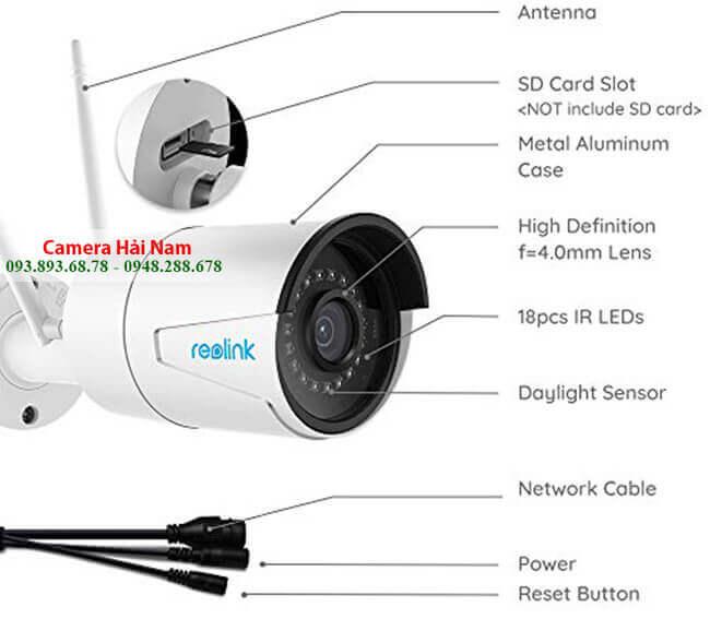 Camera IP Wifi Ngoài trời Reolink RLC-410W 4.0MP Siêu nét, IR 30m, IP66 thân sắt chống nước hoàn hảo