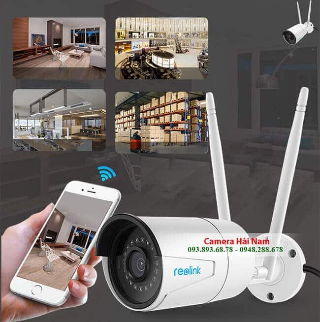 Camera IP Wifi Ngoài trời Reolink RLC-410W 4.0MP Siêu nét 2K, IR 30m, IP66 thân sắt chống nước hoàn hảo