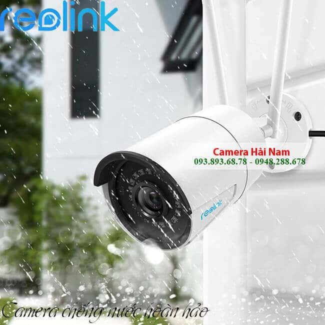 Camera IP Wifi Ngoài trời Reolink RLC-410W 4MP Siêu nét 2K, IR 30m, IP66 thân sắt chống nước hoàn hảo
