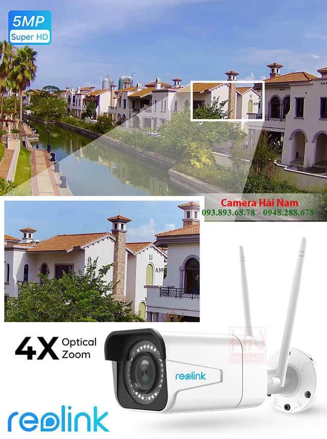 Camera Reolink Ngoài trời RLC-511W 5MP Siêu sắc nét 2K hồng ngoại 30m, Zoom quang 4X, Starlight