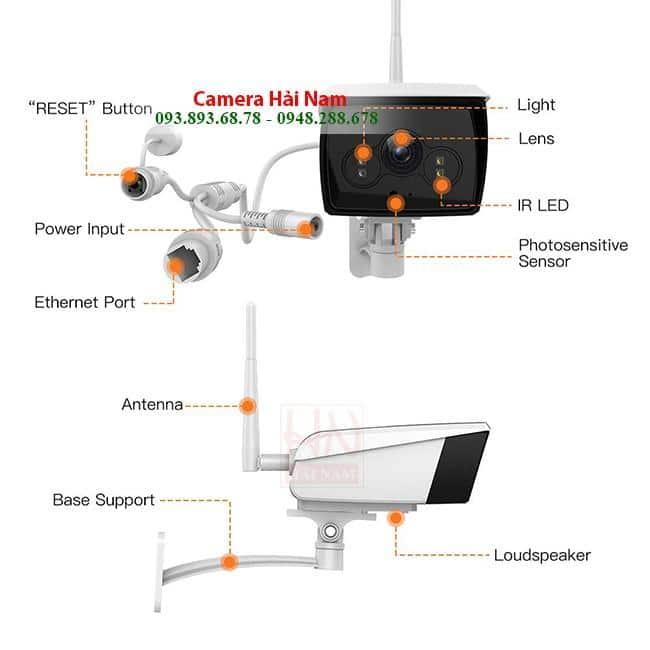 Camera wifi ngoài trời Ebitcam giá rẻ 2.0MP Full HD 1080P CHÍNH HÃNG, GIÁ RẺ